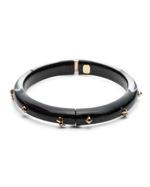 Alexis Bittar | Black Golden Studded Hinge Bangle Bracelet You Might Also Like | Lyst