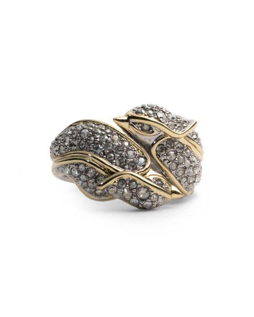 Alexis Bittar - Metallic Crystal Encrusted Secret Lovebirds Ring - Lyst