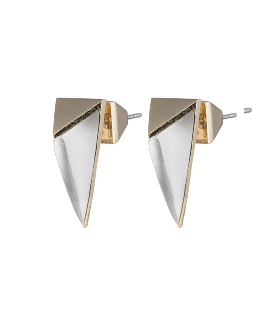 Alexis Bittar | Metallic Faceted Pyramid Post Earring You Might Also Like | Lyst