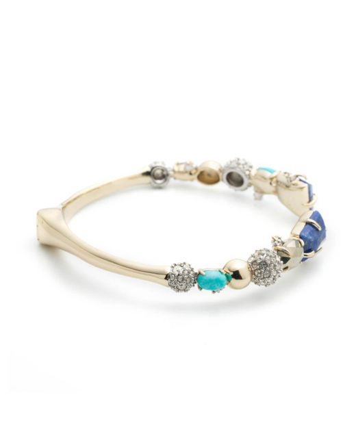 Alexis Bittar - Metallic Crystal Accented Fancy Stone Mirrored Hinge Bracelet You Might Also Like - Lyst