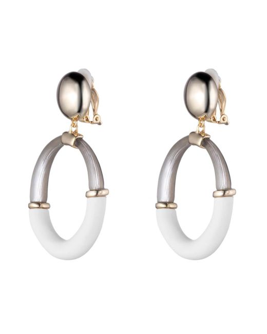 Alexis Bittar - Multicolor Liquid Gold With Matte White Assymetrical Dangling Post Earring You Might Also Like - Lyst