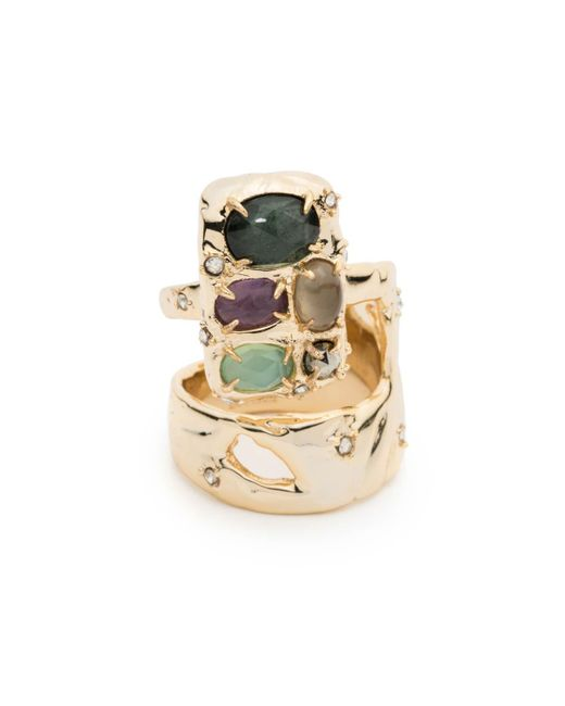 Alexis Bittar | Metallic Stone Slab Double Banded Cocktail Ring You Might Also Like | Lyst