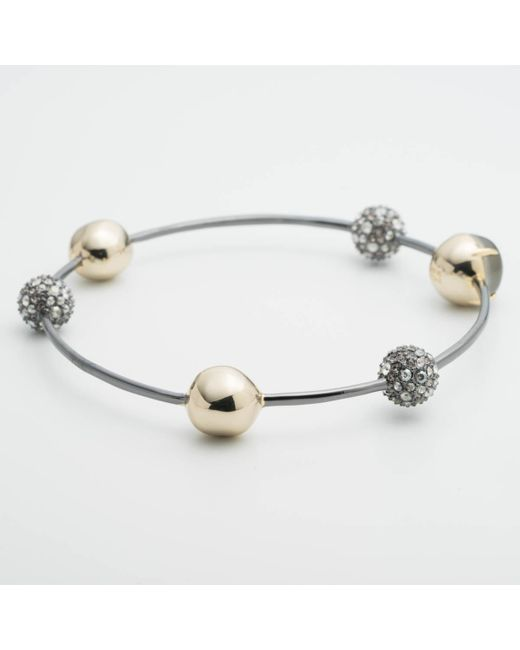Alexis Bittar | Metallic Crystal Encrusted Orbiting Sphere Bangle Bracelet You Might Also Like | Lyst