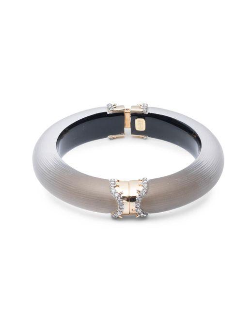 Alexis Bittar - Gray Pavé Edged Segmented Hinge Bracelet - Lyst