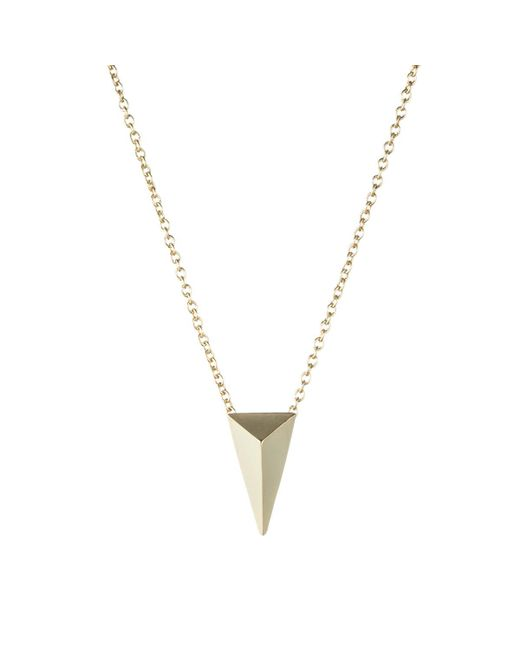 Alexis Bittar | Metallic Gold Pyramid Pendant Necklace You Might Also Like | Lyst