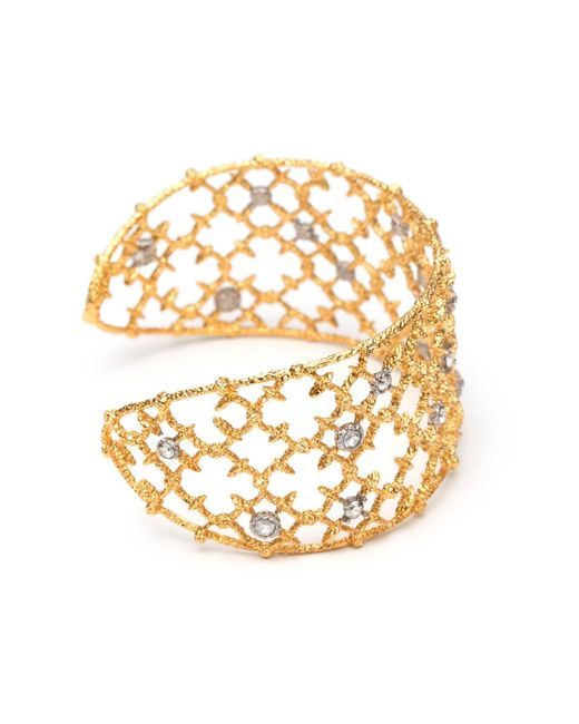 Alexis Bittar - Metallic Gold Crystal Studded Spur Lace Cuff Bracelet You Might Also Like - Lyst