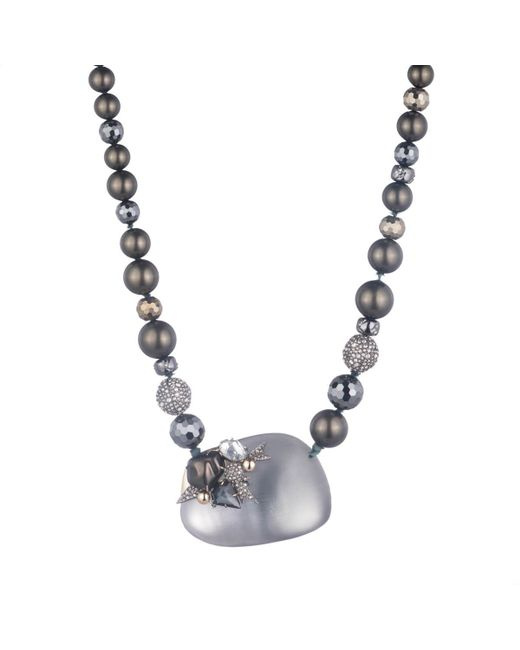 Alexis Bittar | Gray Crystal Encrusted Starburst Pearl Strand Necklace You Might Also Like | Lyst