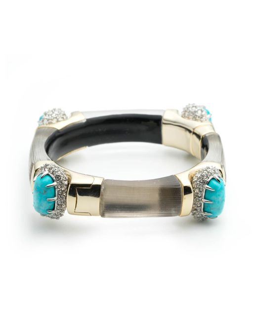 Alexis Bittar | Gray Crystal Encrusted Fancy Cushion Hinge Bracelet You Might Also Like | Lyst