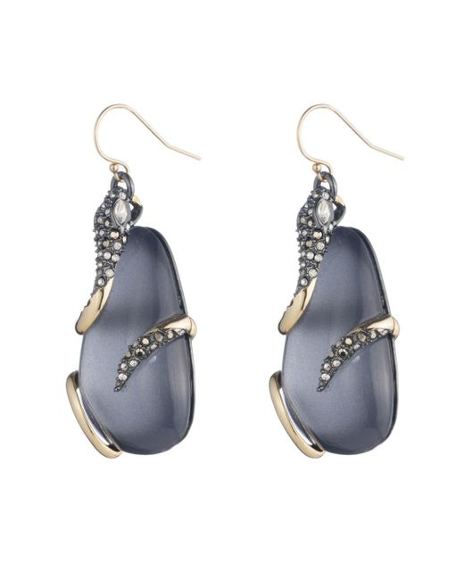 Alexis Bittar | Blue Snake Wrapped Lucite Drop Wire Earring You Might Also Like | Lyst