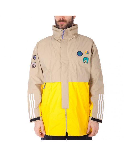 Adidas Originals - Natural Hu Hiking 3-layer Jacket for Men - Lyst