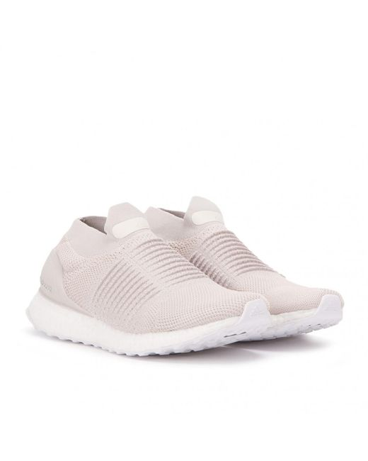 5d1bdaad10e Adidas - White Ultra Boost Laceless for Men - Lyst ...