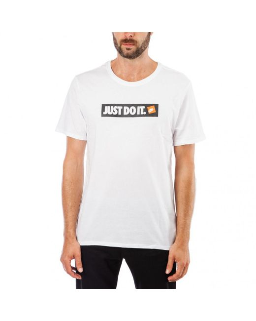 9723aacb5 Lyst - Nike Nike ''just Do It'' T-shirt in White for Men - Save 52%