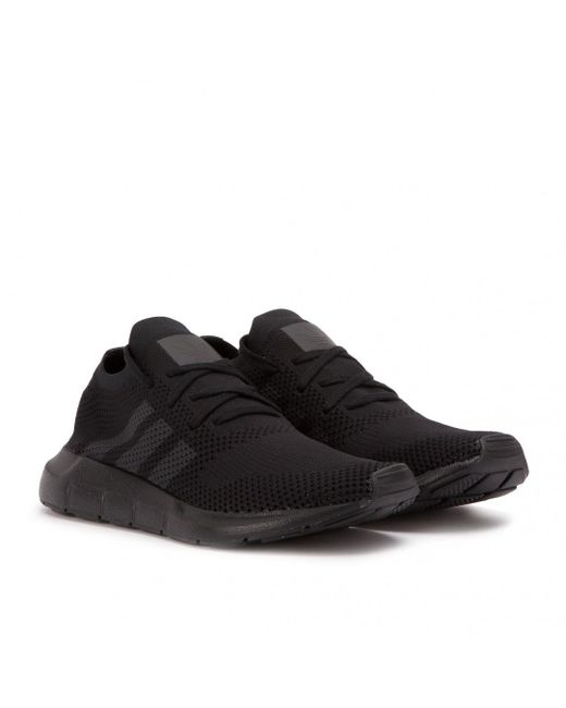 Adidas - Black Swift Run Pk for Men - Lyst ... 020f368e8