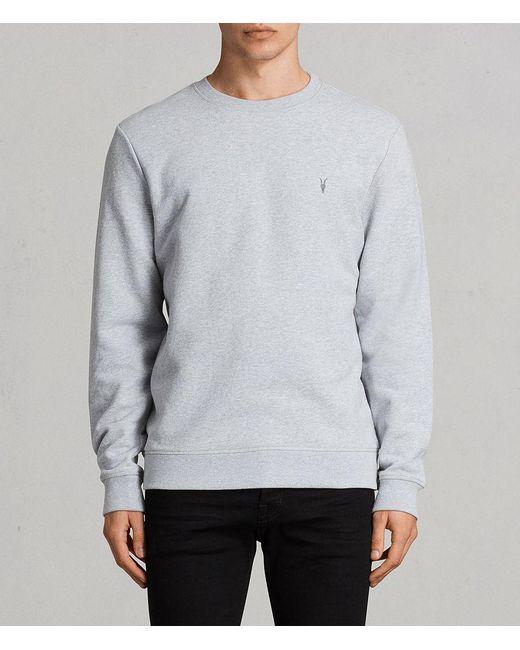 AllSaints - Gray Raven Crew Sweatshirt for Men - Lyst