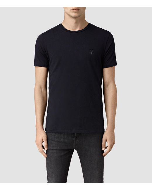 AllSaints | Blue Tonic Crew T-shirt for Men | Lyst
