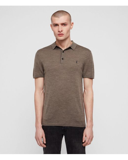 8a601ed3 AllSaints - Multicolor Mode Merino Polo Shirt for Men - Lyst ...