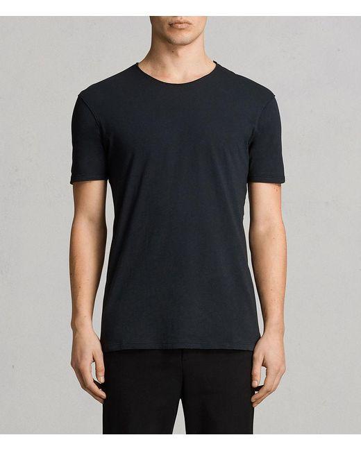 AllSaints - Blue Figure Crew T-shirt for Men - Lyst