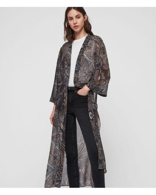 AllSaints Purple Carine Scarf Kimono