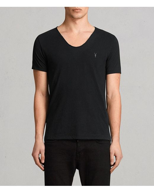 AllSaints - Black Tonic Scoop T-shirt for Men - Lyst