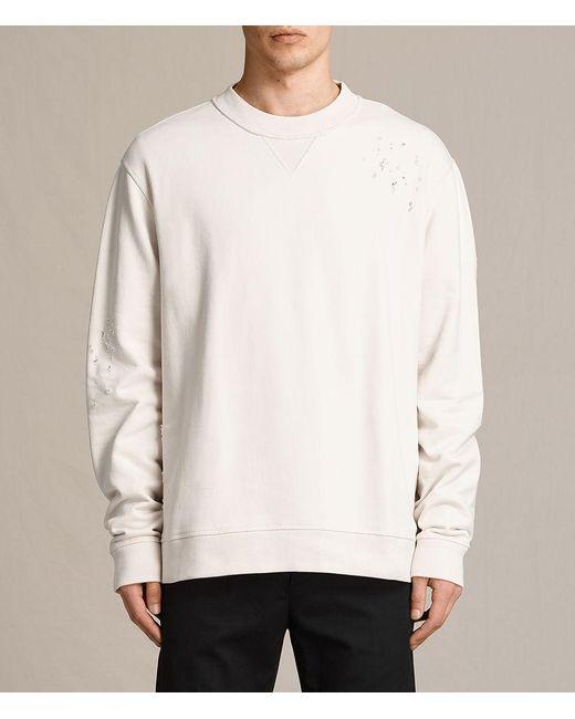 AllSaints - White Ictus Crew Sweatshirt for Men - Lyst