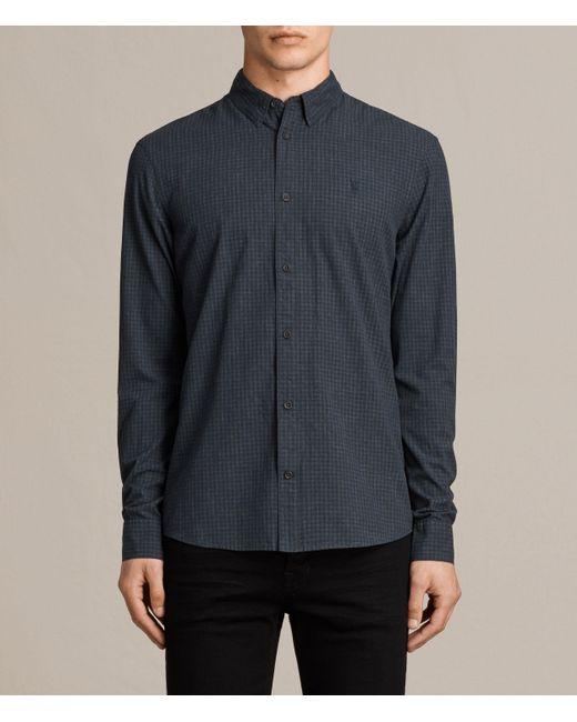 AllSaints | Blue Quarry Shirt for Men | Lyst