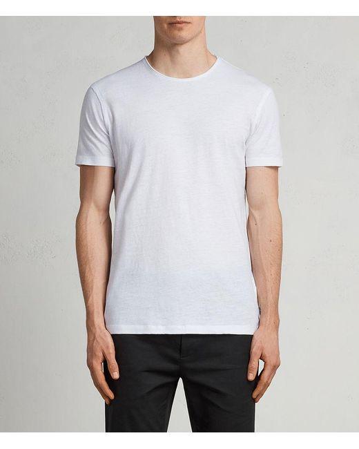 AllSaints - White Figure Crew T-shirt for Men - Lyst