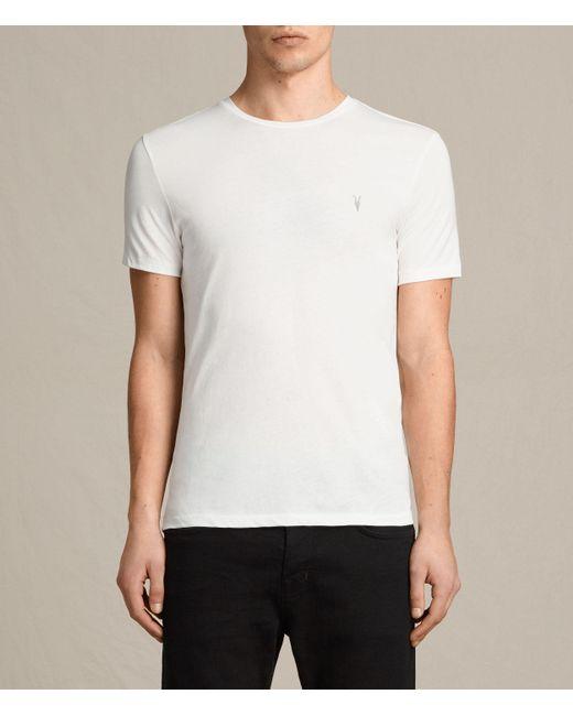AllSaints | White Tonic Crew T-shirt Usa Usa for Men | Lyst