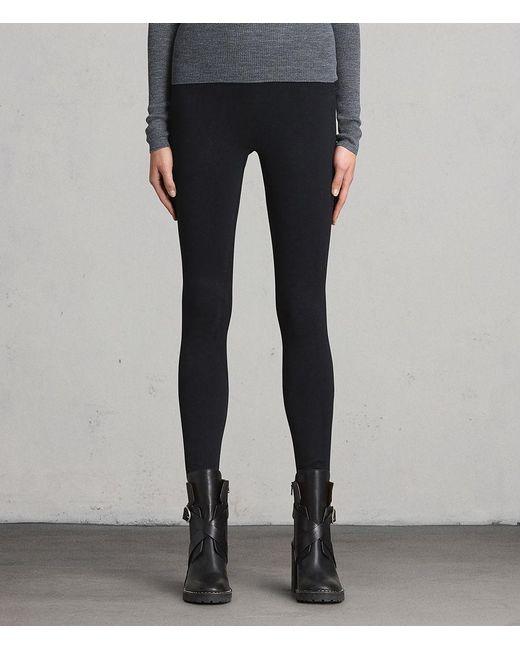 AllSaints - Black Bri Leggings - Lyst