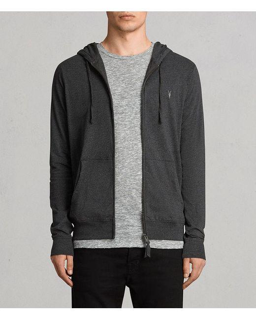 AllSaints - Gray Brace Hoodie for Men - Lyst