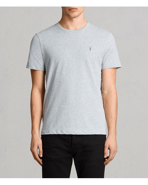 AllSaints - Gray Brace Tonic Crew T-shirt Usa Usa for Men - Lyst