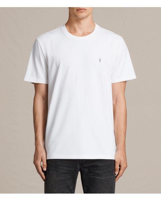 AllSaints | White Morten Crew T-shirt for Men | Lyst