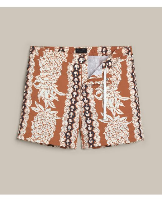 AllSaints | Multicolor Ananas Swim Shorts for Men | Lyst
