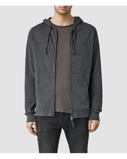 AllSaints | Gray Brace Hoody for Men | Lyst