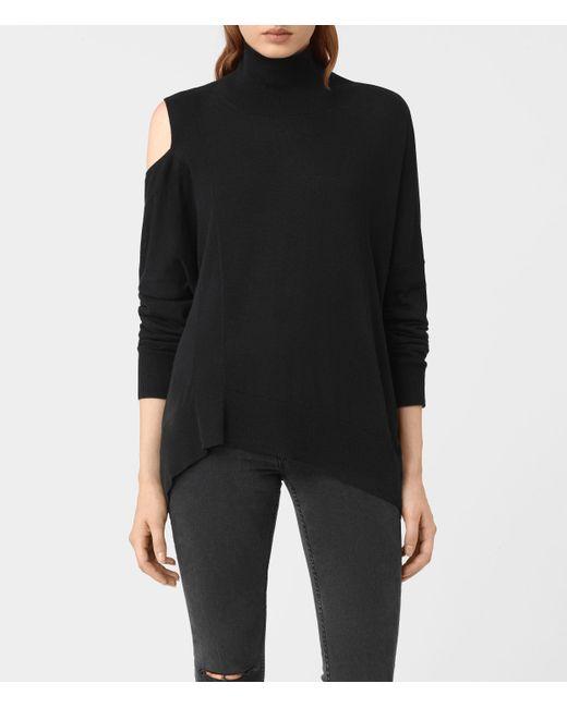 AllSaints | Black Cecily Sweater Usa Usa | Lyst
