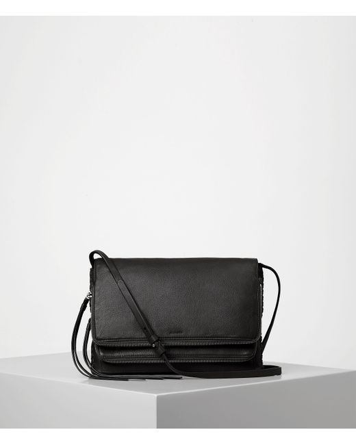AllSaints | Black Club Crossbody Usa Usa | Lyst