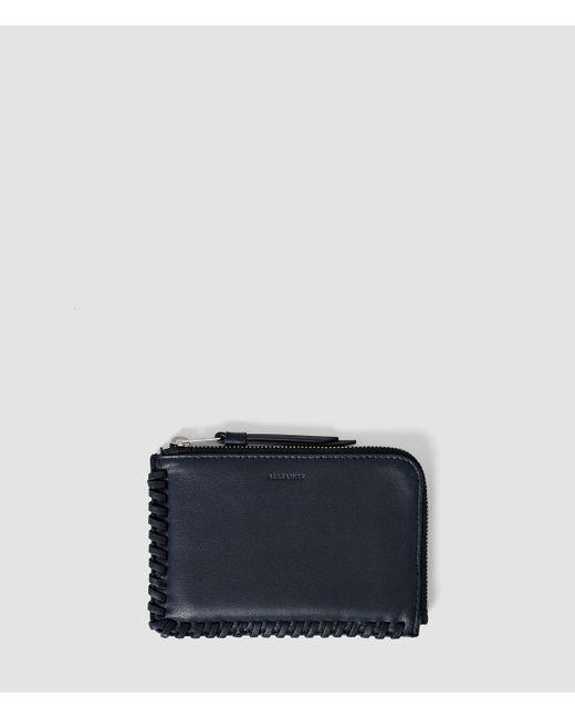 AllSaints | Blue Fleur De Lis Small Leather Pouch | Lyst