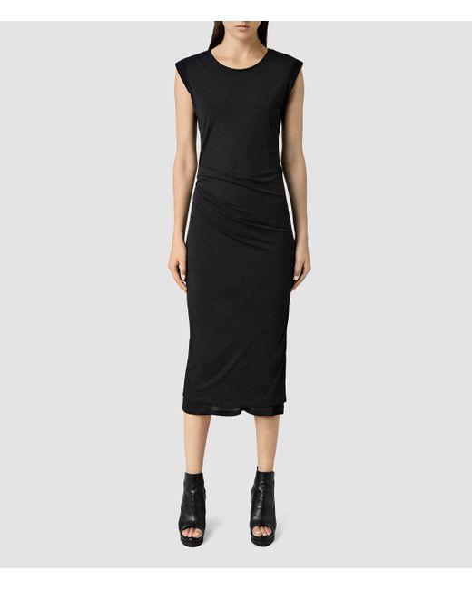 AllSaints | Black Gamma Dress | Lyst