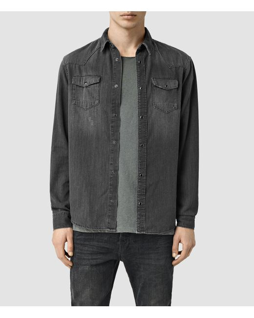 AllSaints | Gray Marilla Shirt Usa Usa for Men | Lyst