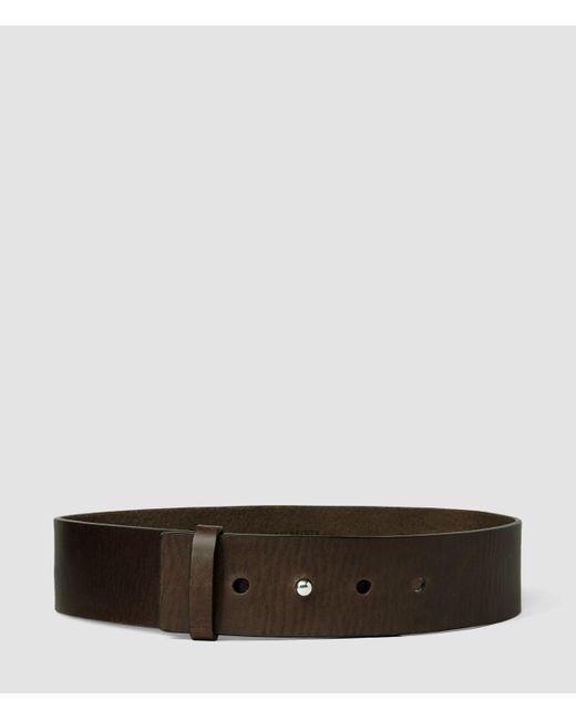 AllSaints | Brown Mimosa Leather Waist Belt | Lyst
