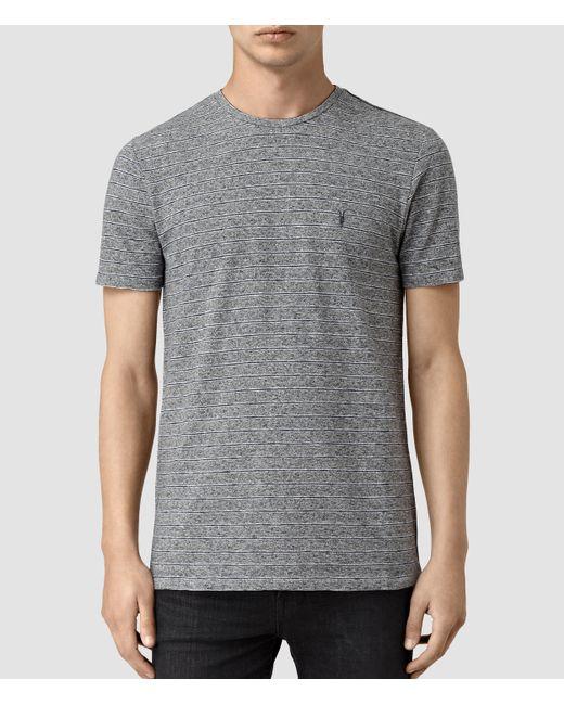 AllSaints | Gray Pavo Tonic Crew T-shirt for Men | Lyst