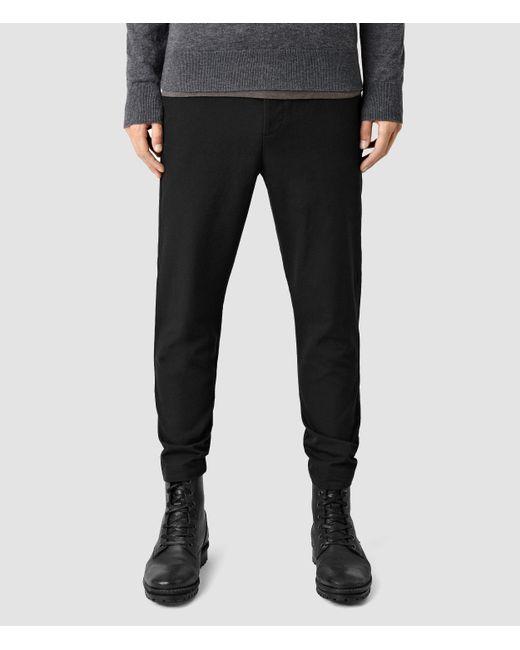 AllSaints | Black Silas Pant Usa Usa for Men | Lyst