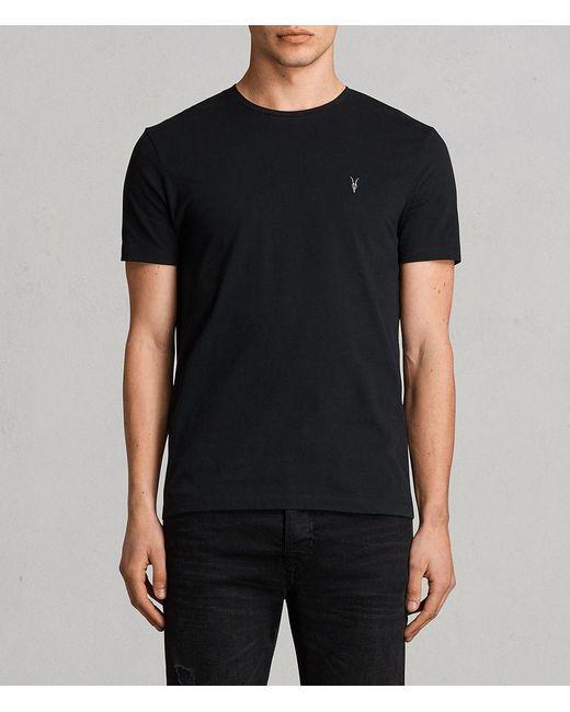 AllSaints - Black Brace Tonic Crew T-shirt Usa Usa for Men - Lyst
