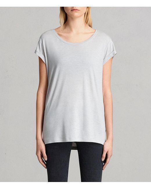 AllSaints - Gray Alisee T-shirt - Lyst