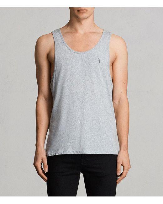 AllSaints - Gray Tonic Vest for Men - Lyst
