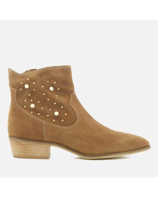 Rebecca Minkoff - Brown Women's Stella Pearl Suede Western Boots - Lyst