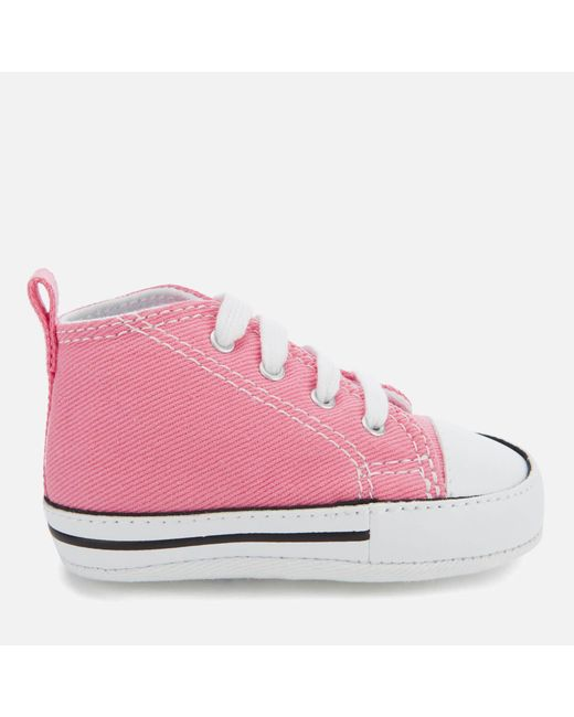 43ed58235960 Converse - Pink Babies Chuck Taylor First Star Hi-top Trainers - Lyst ...