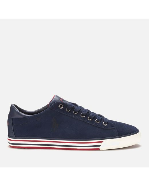Polo Ralph Lauren - Blue Men's Harvey Suede Trainers for Men - Lyst