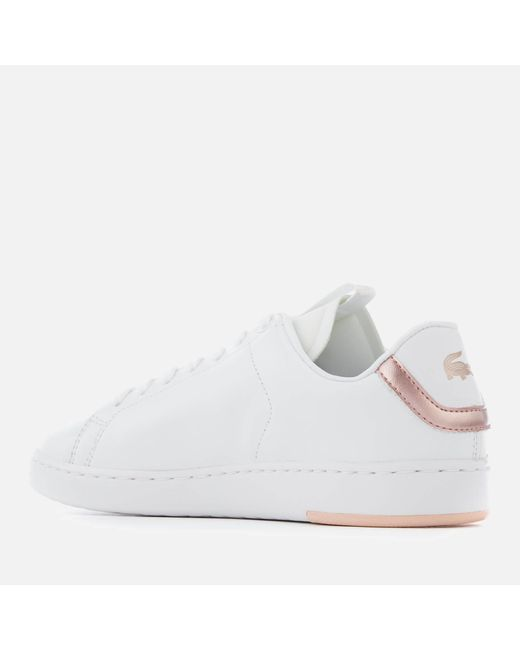 0b9dc77bf ... Lacoste - White Carnaby Evo Light-wt 1193 Leather Trainers - Lyst ...