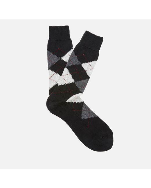 Pantherella - Black Men's Turnmil Egyption Cotton Argyle Socks for Men - Lyst
