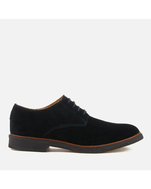 Clarks - Black Clarkdale Moon Suede Derby Shoes for Men - Lyst